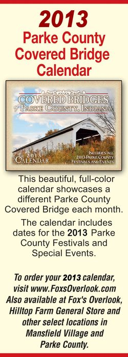 Get The 2013 Covered Bridge Calendar!