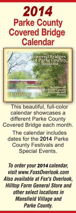 Get The 2014 Covered Bridge Calendar!