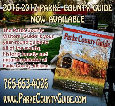 CLICK HERE and get the 2016-2017 Parke County Guide™ as an Adobe PDF Download and be prepared for the Parke County Covered Bridge Festival!