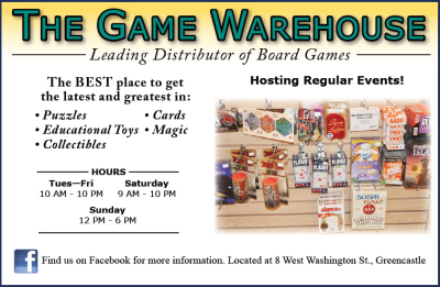 The Game Warehouse — Advertisement