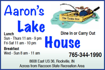 Aaron's Lake House — Advertisement