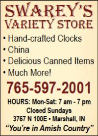 Swarey's Variety Store — Advertisement