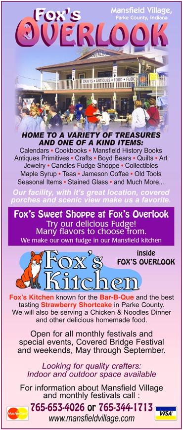 Fox's Overlook — Advertisement