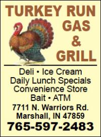 Turkey Run Gas & Grill — Advertisement