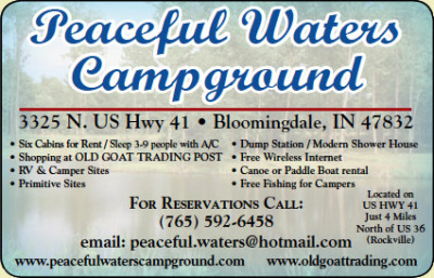 Peaceful Waters Campground and The Old Goat Trading Post — Advertisement