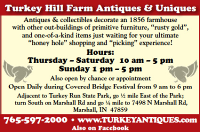 Turkey Hill Farm Antiques & Uniques — Advertisement