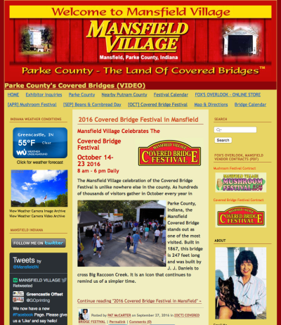 Visit the MansfieldVillage.com Website