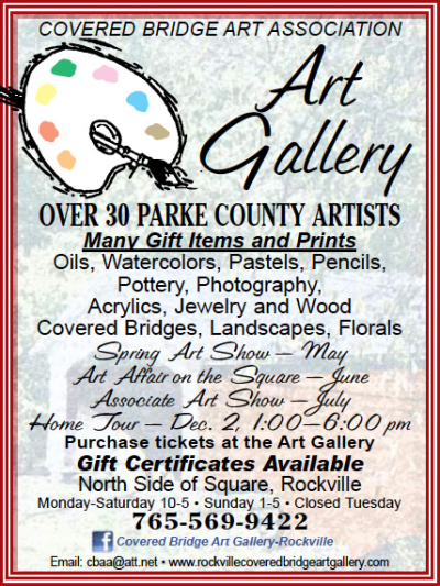 Covered Bridge Art Association — Advertisement