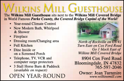 Wilkins Mill Guesthouse — Advertisement