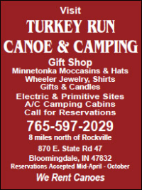 Turkey Run Canoe & Camping — Advertisement