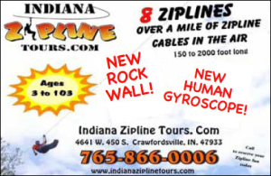 Indiana Zipline Tours — Advertisement