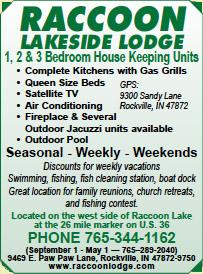 Raccoon Lakeside Lodge — Advertisement