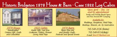 Historic Bridgeton 1898 House & Barn — Case 1822 Log Cabin — Advertisement