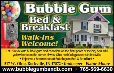 Bubble Gum Bed & Breakfast — Advertisement