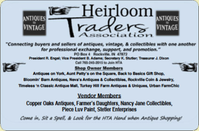 Heirloom Traders Association — Advertisement