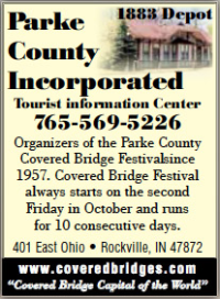 Parke County Incorporated Tourist Information Center — Advertisement