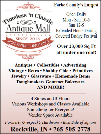 Timeless 'n Classic Antique Mall — Advertisement