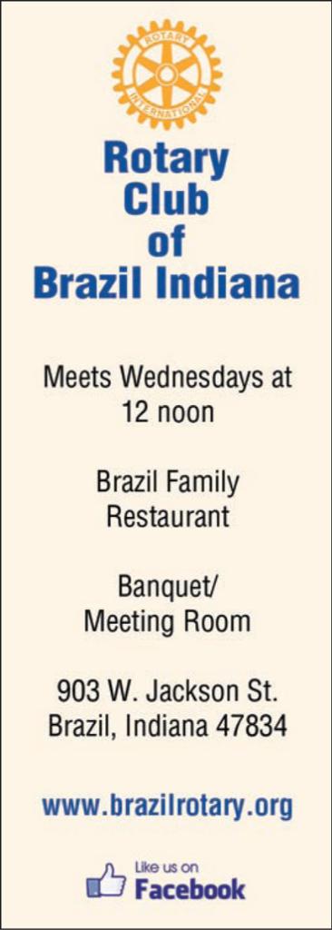 Advertisement: Rotary Club of Brazil Indiana