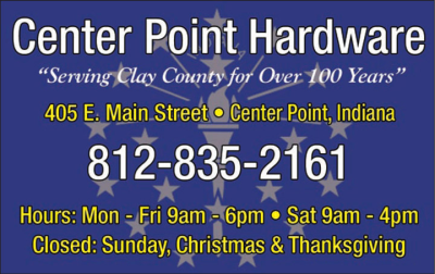 Advertisement: Center Point Hardware