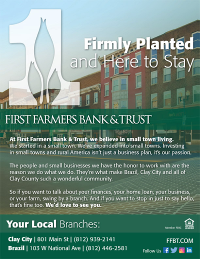 Advertisement: First Farmers Bank & Trust