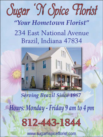 Advertisement: Sugar 'N Spice Florist