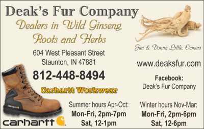 Advertisement: Deak's Fur Company