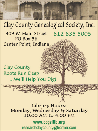 Advertisement: Clay County Genealogical Society, Inc.