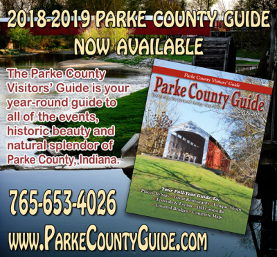 CLICK HERE and get the 2018-2019 Parke County Guide™ as an Adobe PDF Download and be prepared for the Parke County Covered Bridge Festival!