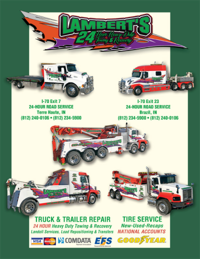 Advertisement: Lambert's 24 Hour Heavy Duty Towing & Recovery
