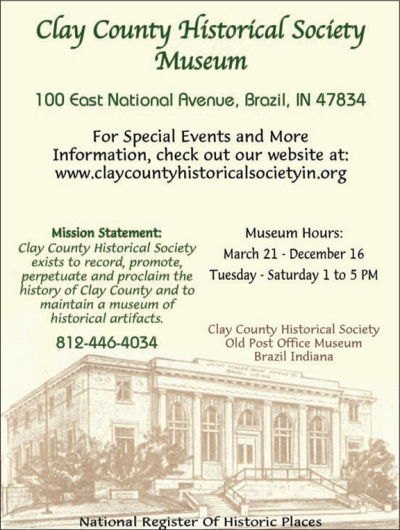 Advertisement: Clay County Historical Society Museum