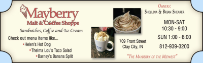 Advertisement: Mayberry Malt & Coffee Shoppe