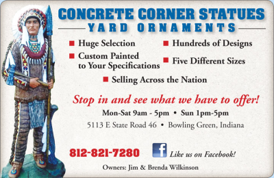 Advertisement: Concrete Corner Statues