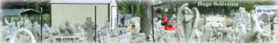 Concrete Corner Statues in Bowling Green