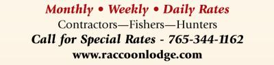 Raccoon Lakeside Lodge Open Year-Round
