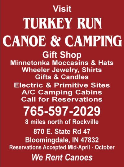 AD: Turkey Run Canoe & Camping