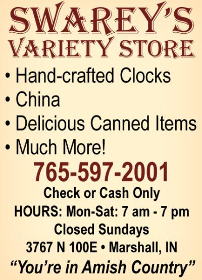 AD: Swarey's Variety Store