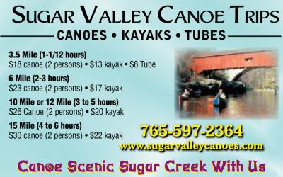 AD: Sugar Valley Canoe Trips