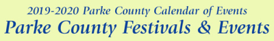 2019-20 Parke County Festivals and Events
