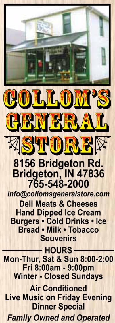 AD: Collom's General Store in Bridgeton