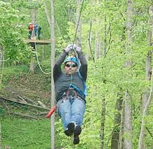 Indiana Zipline Tours, Near Crawfordsville