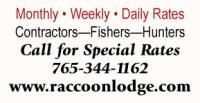 Raccoon Lakeside Lodge - Open All Year!