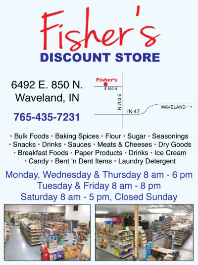 AD: Fisher's Discount Store