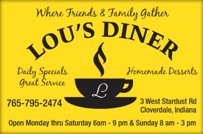 Visit Lou's Diner in Cloverdale
