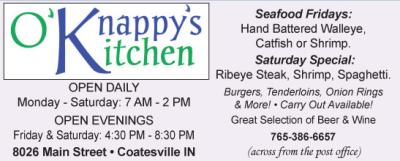 Visit O'Knappy's Kitchen in Coatesville
