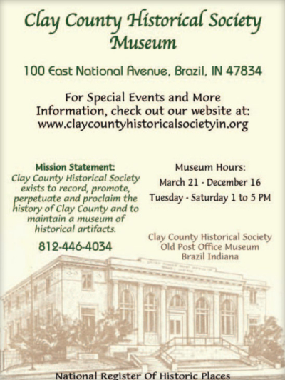 Visit the Clay County Historical Society Museum