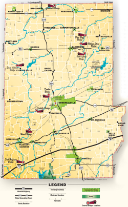Putnam County Covered Bridges MAP