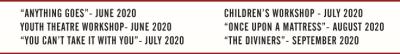 2020 Schedule - The Hazel Day Longden Theatre