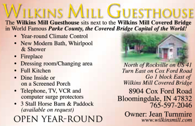 AD: Wilkins Mill Guesthouse