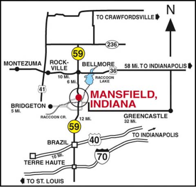 Mansfield Village Map - Click to Enlarge Map