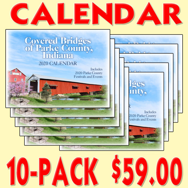 Covered Bridge Calendar 2020 (10-PACK)